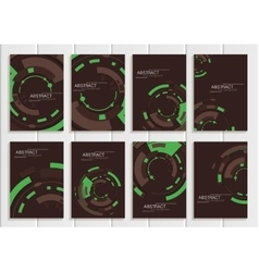 set of brochures in abstract style with vector image