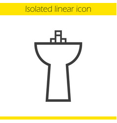 Sink linear icon vector