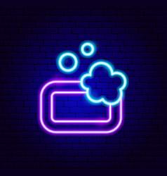 Soap neon sign vector