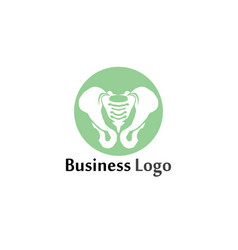 spine diagnostics symbol logo template design vector image