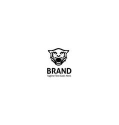 Tiger strangth animal black logo image vector
