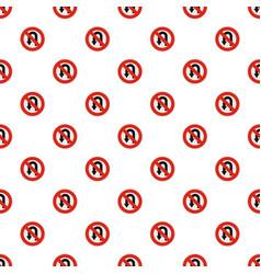 uturn prohibited pattern seamless vector image