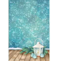 Winter Christmas Scene Background vector image