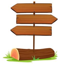 Wooden arrowboards vector