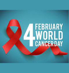 World aids and cancer day symbol vector
