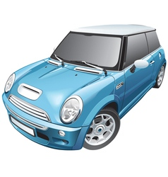 blue small car vector image vector image