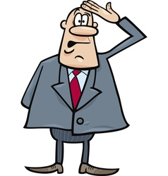 funny confused businessman vector image vector image