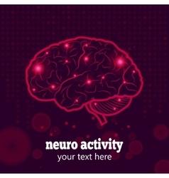 Human brain neural activity vector image vector image