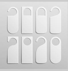 Paper plastic door handle lock hangers set vector
