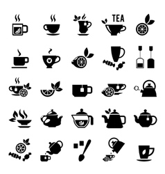 Set of tea icons vector