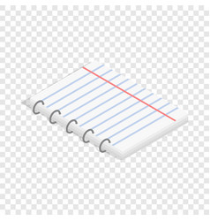 notepad isometric icon vector image