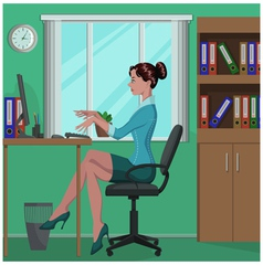 office work vector image