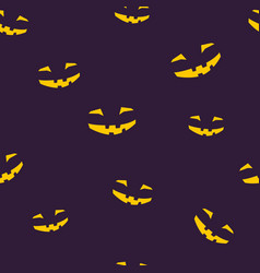 seamless pattern of grinning halloween face vector image vector image