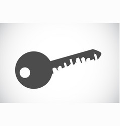silhouette key icon vector image