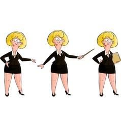 Three girls vector image