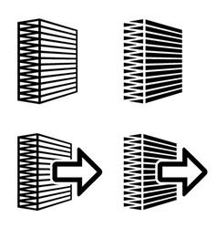 air filter black symbol vector image