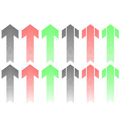 Arrow of decreasing dots vector