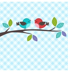 couple of birds vector image
