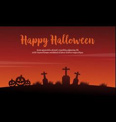 happy halloween background with pumpkin vector image vector image