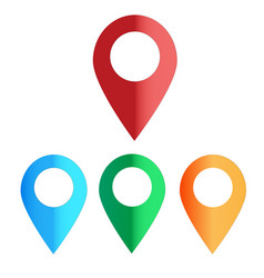 map colors icon on white background map color vector image vector image