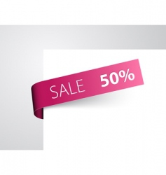 retail sale tag vector image