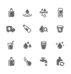 Simple Water Icons vector image vector image