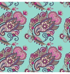 hand drawing ornate seamless flower paisley design vector image