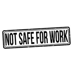 Not safe for work grunge rubber stamp vector