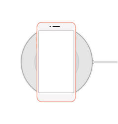 phone on the cordless charger vector image vector image