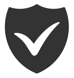 Shield valid flat icon vector