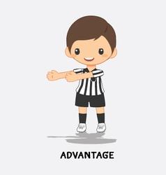 soccer advantage signal vector image vector image