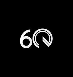 60 years anniversary celebration white line vector