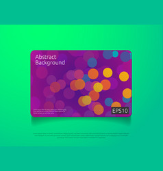 abstract colorful card or cover template with vector image