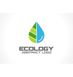 Abstract logo for business company Eco nature vector image