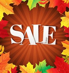 Autumn Sale Poster With Leaves vector