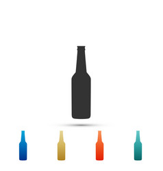 beer bottle icon isolated on white background vector image