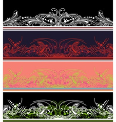 Border design elements vector