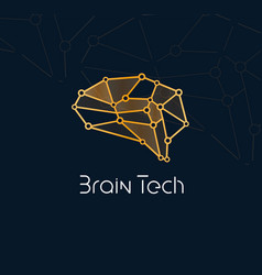 brain tech logo concept for new communication vector image