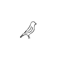 Brush canary logo graphic design vector