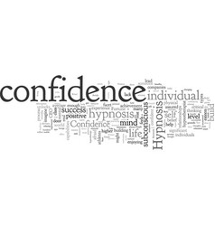build confidence with hypnosis vector image
