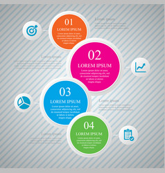 business infographic template design with step vector image