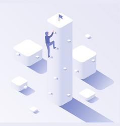 businessman career climb business climbing vector image