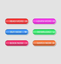 Button for web action icon for call to shop game vector