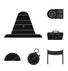 car and rally logo set of vector image