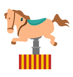 carousel horse ride vector image