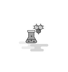 chemical beaker web icon flat line filled gray vector image