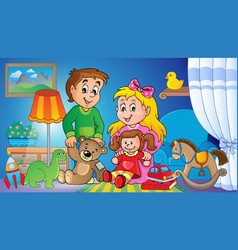 Children with toys theme image 2 vector