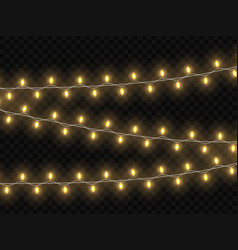 Christmas glowing lights template for your design vector