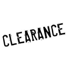 Clearance stamp rubber grunge vector image