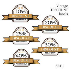 collection of vintage retro grunge sale labels vector image